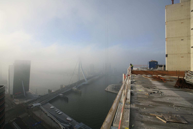 Voortgang bouw Maastoren, Rotterdam. Architecten Dam & Partners Architecten